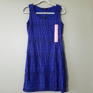 NWT Tiana B. Blue mini dress S